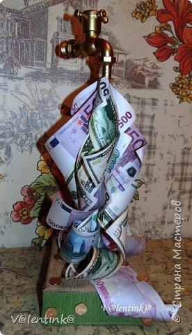 В преддверии 23 февраля поступил срочный заказ. Надо сделать денежный кран на день рождение мужчины. фото 2