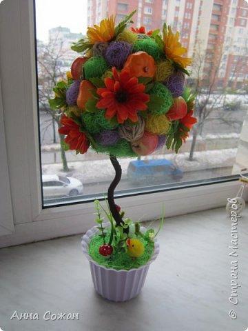 Всем доброго дня! Приглашаю Вас посмотреть мои подарки к 8 Марта! Деревья счастья, магнитики-топиарии и гнёздышки.