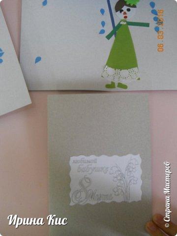 """в контакте несколько раз на глаза попадалась открытка """"Под дождём"""". очень хотелось сделать что-то подобное. немного изменила, сделали подарок бабушке:) фото 2"""
