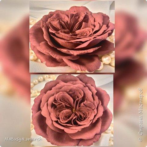 Брошь- пионовидная роза фото 2