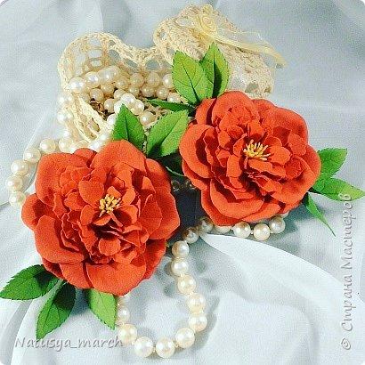 Брошь- пионовидная роза фото 8