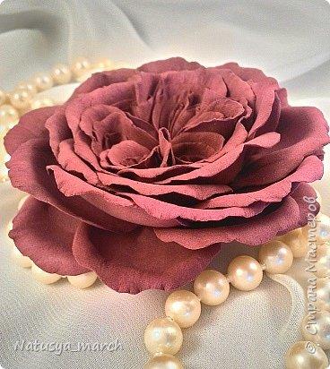 Брошь- пионовидная роза фото 1
