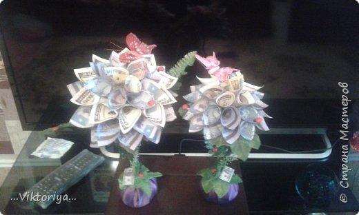 """Приветствую всех жителей страны!!! Хочу продемонстрировать вам своё новое денежное дерево,только решила его дополнительно """"обогатить"""" розами из фома.  фото 5"""