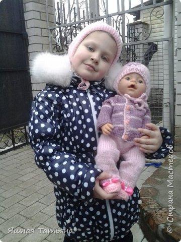 Здравствуйте! Давно хотела связать комбинезончик для куколки, нашла подходящий мк от Олички Корнеевой  http://stranamasterov.ru/node/977021?c=favorite , огромное спасибо за МК. фото 1