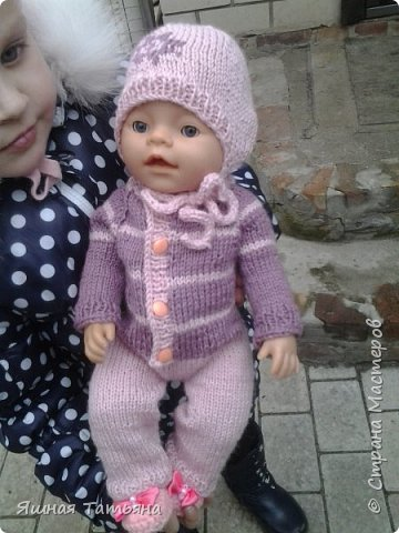 Здравствуйте! Давно хотела связать комбинезончик для куколки, нашла подходящий мк от Олички Корнеевой  http://stranamasterov.ru/node/977021?c=favorite , огромное спасибо за МК. фото 4