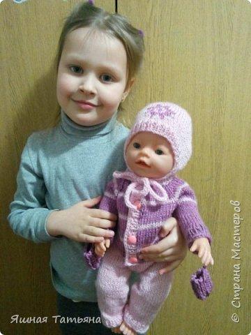 Здравствуйте! Давно хотела связать комбинезончик для куколки, нашла подходящий мк от Олички Корнеевой  http://stranamasterov.ru/node/977021?c=favorite , огромное спасибо за МК. фото 2