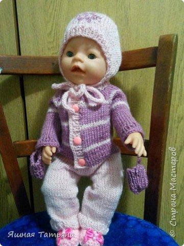 Здравствуйте! Давно хотела связать комбинезончик для куколки, нашла подходящий мк от Олички Корнеевой  http://stranamasterov.ru/node/977021?c=favorite , огромное спасибо за МК. фото 3