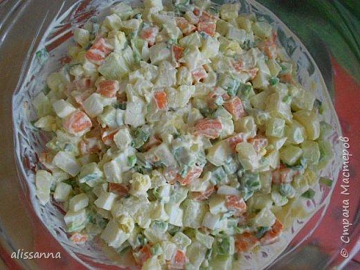 Доброе время суток....жители Страны....))))))) Предлагаю вашему вниманию вкусный и яркий салатик....))))))) В приготовлении очень прост...Итак...начнем-с...))) фото 5