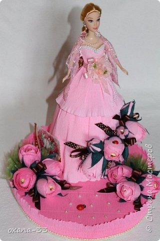 Подарочная корзина в нежном розовом цвете. фото 14