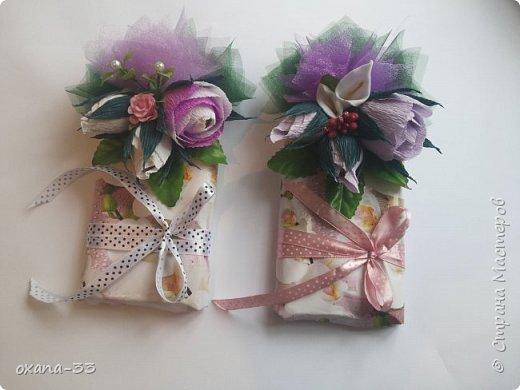 Подарочная корзина в нежном розовом цвете. фото 20