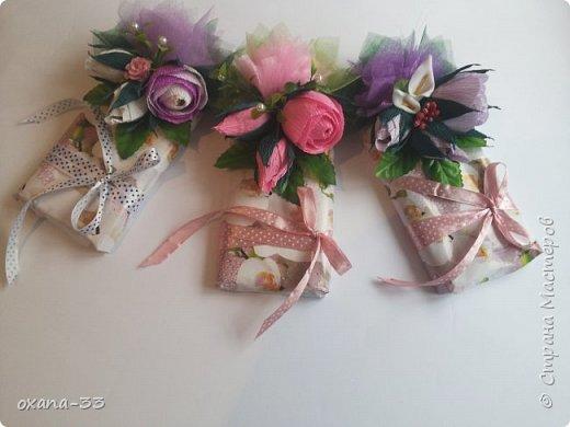Подарочная корзина в нежном розовом цвете. фото 18
