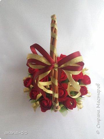 Подарочная корзина в нежном розовом цвете. фото 6
