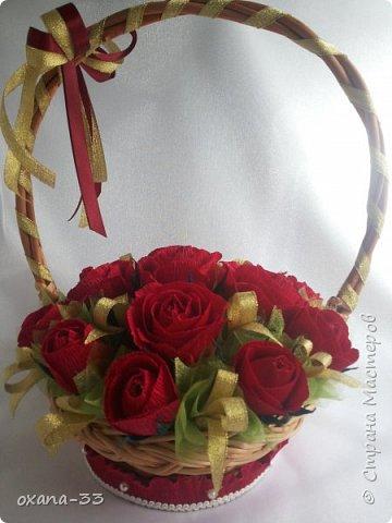 Подарочная корзина в нежном розовом цвете. фото 5