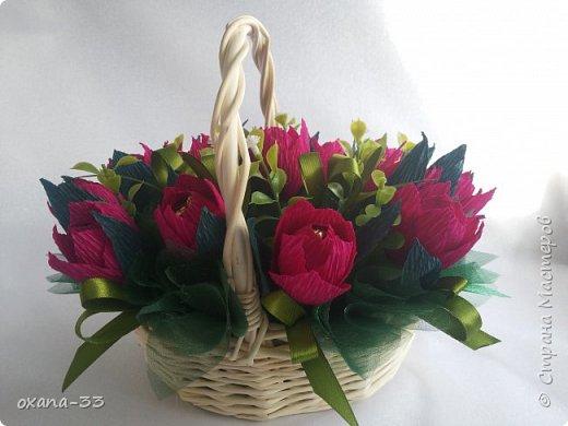 Подарочная корзина в нежном розовом цвете. фото 7