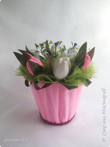 Подарочная корзина в нежном розовом цвете. фото 10
