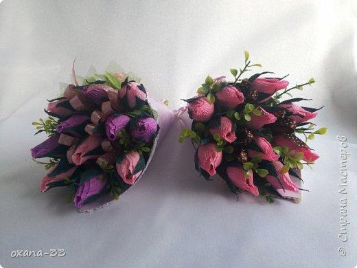 Подарочная корзина в нежном розовом цвете. фото 17