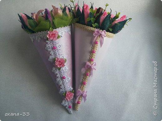 Подарочная корзина в нежном розовом цвете. фото 16