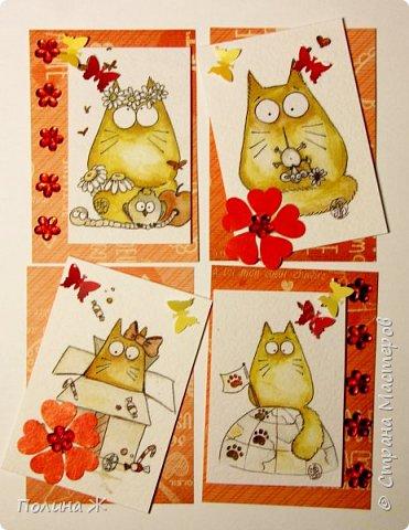 Выходные не проходят даром. Опять карточки АТС.... На дворе весна, скоро все зацветет, под окном начинают петь песни коты.... фото 1