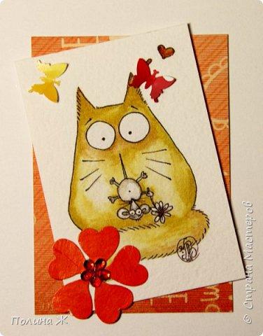 Выходные не проходят даром. Опять карточки АТС.... На дворе весна, скоро все зацветет, под окном начинают петь песни коты.... фото 5