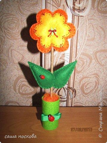 Цветочки в горшочке фото 8
