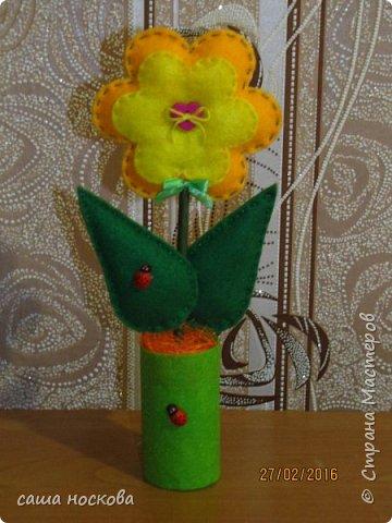 Цветочки в горшочке фото 9
