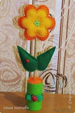 Цветочки в горшочке фото 7