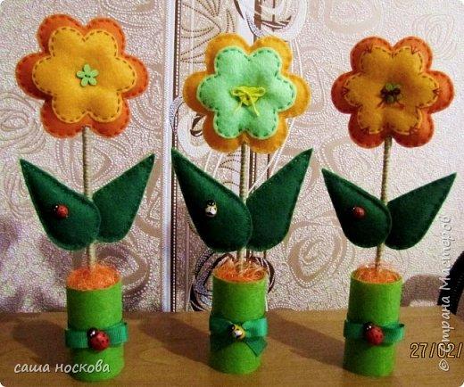 Цветочки в горшочке фото 5
