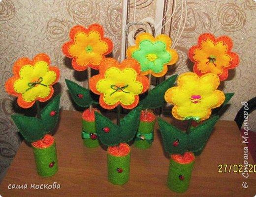 Цветочки в горшочке фото 3