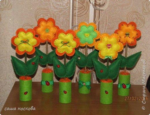 Цветочки в горшочке фото 1