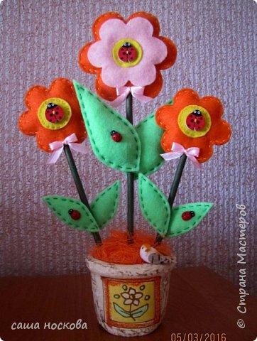 Цветочки в горшочке фото 10