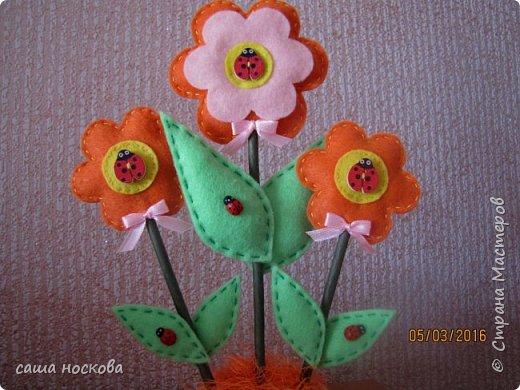 Цветочки в горшочке фото 11