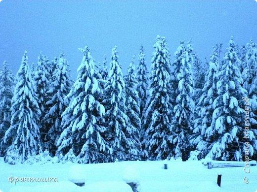 Чудесный зимний день. Морозная погода. На небе голубом сияет солнца круг. Под снегом сладко спит притихшая природа, И снежным серебром покрыто всё вокруг.  На улице бывать мне нравится в морозы; Прекрасных, светлых грёз душа моя полна, Когда стоят в снегу застывшие берёзы И снежная блестит повсюду белизна.  От солнечных лучей пушистый снег искрится, Белеет ярко гладь заснеженных полей; В такие дни в лесу приятно находиться, Увидеть невзначай там стайку снегирей...  Как огоньки, у них краснеют ярко грудки - Поэтому они видны издалека; А в полынье речной гурьбой толпятся утки И ждут, когда от льда очистится река.  Чудесный зимний день. Морозная погода, Под башмаками снег от холода скрипит; С младенчества влюблён я в это время года, Когда в холодной мгле природа сладко спит. (М. Крюков)  фото 2