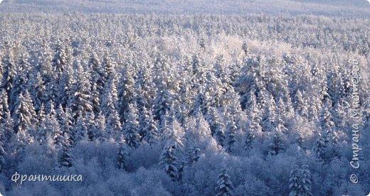 Чудесный зимний день. Морозная погода. На небе голубом сияет солнца круг. Под снегом сладко спит притихшая природа, И снежным серебром покрыто всё вокруг.  На улице бывать мне нравится в морозы; Прекрасных, светлых грёз душа моя полна, Когда стоят в снегу застывшие берёзы И снежная блестит повсюду белизна.  От солнечных лучей пушистый снег искрится, Белеет ярко гладь заснеженных полей; В такие дни в лесу приятно находиться, Увидеть невзначай там стайку снегирей...  Как огоньки, у них краснеют ярко грудки - Поэтому они видны издалека; А в полынье речной гурьбой толпятся утки И ждут, когда от льда очистится река.  Чудесный зимний день. Морозная погода, Под башмаками снег от холода скрипит; С младенчества влюблён я в это время года, Когда в холодной мгле природа сладко спит. (М. Крюков)  фото 21