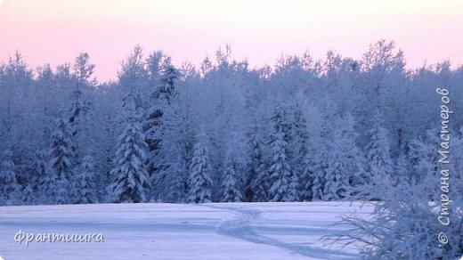 Чудесный зимний день. Морозная погода. На небе голубом сияет солнца круг. Под снегом сладко спит притихшая природа, И снежным серебром покрыто всё вокруг.  На улице бывать мне нравится в морозы; Прекрасных, светлых грёз душа моя полна, Когда стоят в снегу застывшие берёзы И снежная блестит повсюду белизна.  От солнечных лучей пушистый снег искрится, Белеет ярко гладь заснеженных полей; В такие дни в лесу приятно находиться, Увидеть невзначай там стайку снегирей...  Как огоньки, у них краснеют ярко грудки - Поэтому они видны издалека; А в полынье речной гурьбой толпятся утки И ждут, когда от льда очистится река.  Чудесный зимний день. Морозная погода, Под башмаками снег от холода скрипит; С младенчества влюблён я в это время года, Когда в холодной мгле природа сладко спит. (М. Крюков)  фото 15