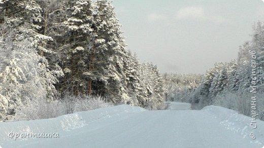 Чудесный зимний день. Морозная погода. На небе голубом сияет солнца круг. Под снегом сладко спит притихшая природа, И снежным серебром покрыто всё вокруг.  На улице бывать мне нравится в морозы; Прекрасных, светлых грёз душа моя полна, Когда стоят в снегу застывшие берёзы И снежная блестит повсюду белизна.  От солнечных лучей пушистый снег искрится, Белеет ярко гладь заснеженных полей; В такие дни в лесу приятно находиться, Увидеть невзначай там стайку снегирей...  Как огоньки, у них краснеют ярко грудки - Поэтому они видны издалека; А в полынье речной гурьбой толпятся утки И ждут, когда от льда очистится река.  Чудесный зимний день. Морозная погода, Под башмаками снег от холода скрипит; С младенчества влюблён я в это время года, Когда в холодной мгле природа сладко спит. (М. Крюков)  фото 16