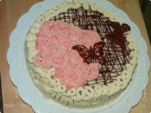 Дча моя любит печь тортики, Этот тортик испекла на 8 марта, завтра с ним к бабушке поедем фото 1
