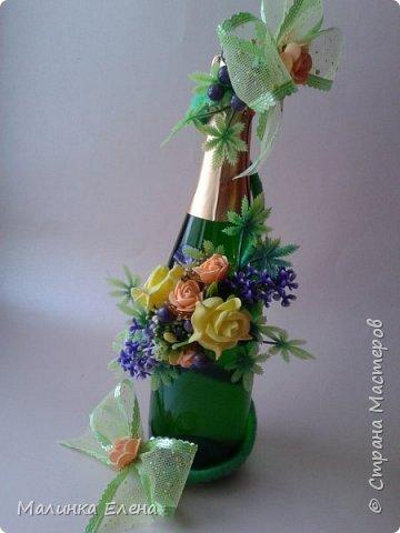 Оформление бутылочек в подарок на 8 марта фото 2