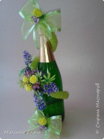 Оформление бутылочек в подарок на 8 марта фото 6