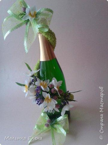 Оформление бутылочек в подарок на 8 марта фото 7