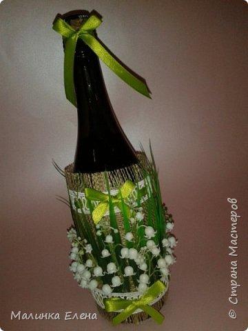 Оформление бутылочек в подарок на 8 марта фото 3