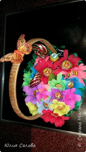 Цветочки из чупа чупсов фото 1