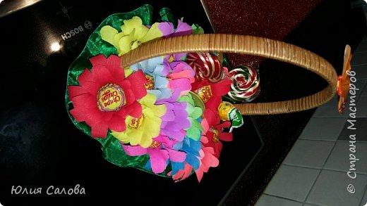 Цветочки из чупа чупсов фото 5