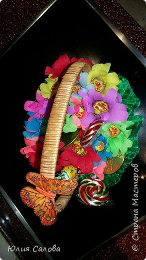Цветочки из чупа чупсов фото 6