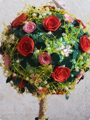 Здравствуйте, дорогие друзья, жители замечательной страны Мастеров!!!! Милые женщины, девушки, девочки!!!!!! От всего сердца хочу поздравить вас с этим прекрасным праздником весны, красоты и любви - с 8-м Марта!!!  Пусть ваша душа до краев наполнится светом, теплом и радостью от искренних пожеланий, нежных цветов, приятных подарков!!! Женщина - это самое прекрасное, что есть в этом мире, поэтому продолжайте и дальше делать его лучшим, принося добро и любовь в этот мир. Побольше улыбайтесь, ведь тем самым вы поднимаете настроение всем вокруг. Будьте всегда счастливыми, довольными, успешными, а главное - любимыми.  К этому чудесному празднику подготовила вот такие подарки!!! Решила сделать топиарии, чтобы они несли счастье и радость в дом!!! Писать много не буду.  Приятного просмотра!!!   фото 2