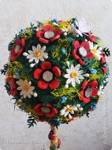 Здравствуйте, дорогие друзья, жители замечательной страны Мастеров!!!! Милые женщины, девушки, девочки!!!!!! От всего сердца хочу поздравить вас с этим прекрасным праздником весны, красоты и любви - с 8-м Марта!!!  Пусть ваша душа до краев наполнится светом, теплом и радостью от искренних пожеланий, нежных цветов, приятных подарков!!! Женщина - это самое прекрасное, что есть в этом мире, поэтому продолжайте и дальше делать его лучшим, принося добро и любовь в этот мир. Побольше улыбайтесь, ведь тем самым вы поднимаете настроение всем вокруг. Будьте всегда счастливыми, довольными, успешными, а главное - любимыми.  К этому чудесному празднику подготовила вот такие подарки!!! Решила сделать топиарии, чтобы они несли счастье и радость в дом!!! Писать много не буду.  Приятного просмотра!!!   фото 10