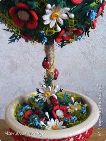 Здравствуйте, дорогие друзья, жители замечательной страны Мастеров!!!! Милые женщины, девушки, девочки!!!!!! От всего сердца хочу поздравить вас с этим прекрасным праздником весны, красоты и любви - с 8-м Марта!!!  Пусть ваша душа до краев наполнится светом, теплом и радостью от искренних пожеланий, нежных цветов, приятных подарков!!! Женщина - это самое прекрасное, что есть в этом мире, поэтому продолжайте и дальше делать его лучшим, принося добро и любовь в этот мир. Побольше улыбайтесь, ведь тем самым вы поднимаете настроение всем вокруг. Будьте всегда счастливыми, довольными, успешными, а главное - любимыми.  К этому чудесному празднику подготовила вот такие подарки!!! Решила сделать топиарии, чтобы они несли счастье и радость в дом!!! Писать много не буду.  Приятного просмотра!!!   фото 11