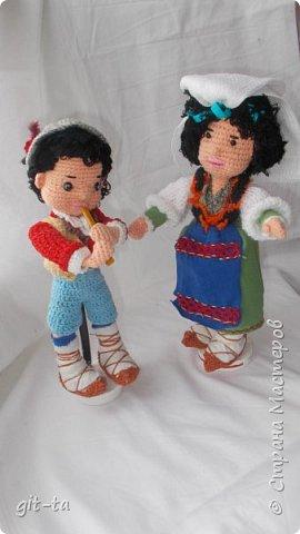 Вот такие куколки связала я недавно. Это  Пастушок и Итальяночка. фото 19