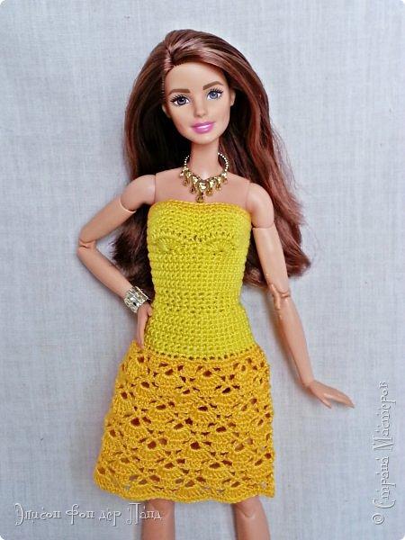 """""""Готовь сани летом"""" - это про нашу Эмму. Она любит всё планировать заранее. Вот и к отпуску она решила приготовиться уже сейчас. А мы ей в этом немного помогли.)))  Эмма собирается посетить небольшой курорт у моря. Для прогулок по городу у нее теперь есть яркое желтое платье-бандо и шляпка. фото 2"""