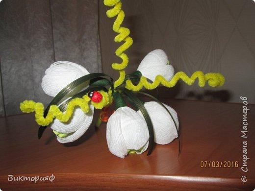 Летом пробовала делать футбольный мяч и ручку из конфет. Сегодня добралась до цветочков. Моя первая корзинка на 8 марта в подарок хорошему человечку. фото 4