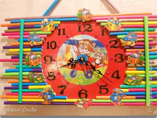 Решили ремонт в детской сделать и чего-нибудь новенького добавить.Подсмотрела здесь: http://stranamasterov.ru/node/340768?c=favorite идею и сделала часики. фото 2